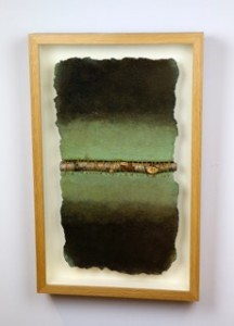 Christa Corner 'Deforestation' Mixed media on hand-made paper 47x52 cm