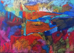 PAULINE ALEXANDER Untitled 008 Pastel on Paper 53.5cm x 44.5