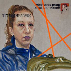 ANDREA COLTMAN Win Acrylic and Oil on Linen 70 x 70 x 4cm