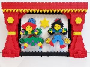 Puppet Theatre Morphun Bricks 51 x 82 x 15 cm