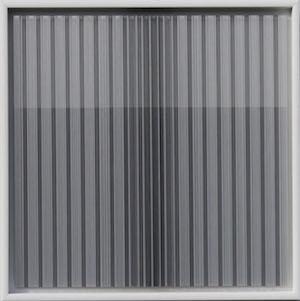 RACHEL WICKREMER Vanishing Point Polycarbonate Twin Wall Plastic, Paint, Threads & Glue 40cm x 40cm x 1cm