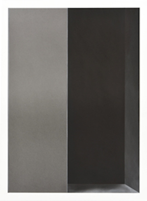 DAVID MINTON White Cube Graphite powder and pigment on 300 gm. paper mounted on aluminium 47cm x 67cm